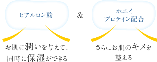 ヒアルロン酸&ホエイプロテイン配合